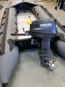17' Zodiac inflatable with 25 hp Yamaha