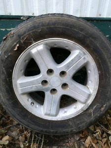 """Set of 4- 17"""" rims and tires"""