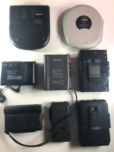 Lot of Sony Recorders, Cassette and Cd Players (all untested)