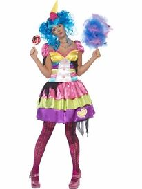 7 DEADLY SINS GLUTTONY FANCY DRESS SIZE 12/14 WITH A WIG FOR HEN DO