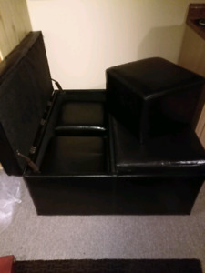 Square ottoman with 4 footstools
