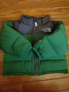 NORTHFACE 550 Green winter down jacket (3-6 month)