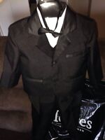 Toddler Size 2 Moores Tuxedo and Size 7 Dress shoes