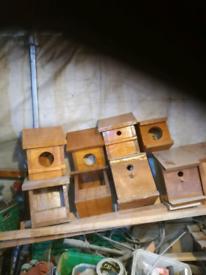 Various bird nestling boxes