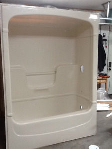 3 piece bath tub shower enclosed unit