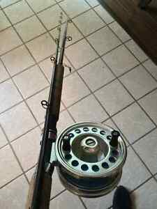 Ocean salmon rod and reel