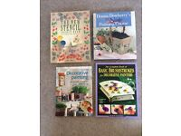 x4 stencil and craft painting books