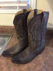 Woman Leather Cowboy Boots