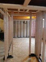 Professional Basement Framing