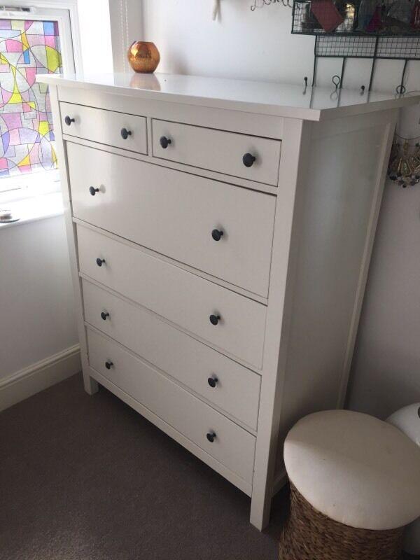 Ikea Hemnes White 6 Drawer Dresser Large 108 X 130 50