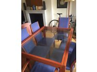 DINING ROOM TABLE SET INCLUDING TABLE AND SIX CHAIRS