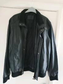Black Leather jacket. Size L