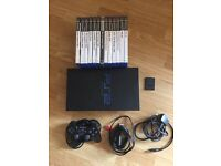 PlayStation 2 console and games. Memory card, controller