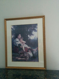 Picture Frame the Mother with her Children.