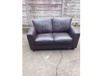 Used condition condition two seater leather sofa Brown only £35