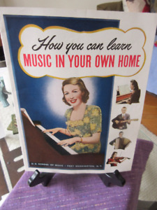Vintage 1956 - How you can learn music in your own home.