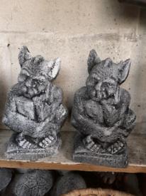 Concrete garden ornaments.