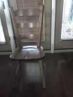 Solid oak dining chairs from Holland (4)