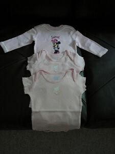 """3 Bodies pour fille """"Disney, Children's"""" (3-6 mois) West Island Greater Montréal image 1"""