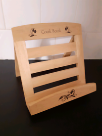 Decorated Wooden Cookbook Holder Stand