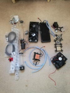 Assorted items for water cooling