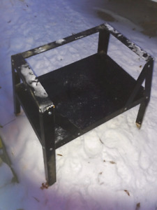 Solid heavy duty tool saw cutter horse metal stand. Was used as