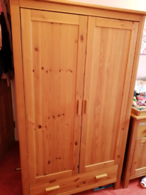 Solid Wood Mothercare Wardrobe