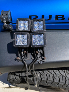 Rigid Dually D series Spot/ Flood combo Jeep JK Wrangler