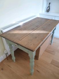 Farmhouse style kitchen table 130x66x74cm
