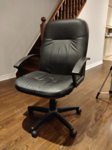 Two Black Office Chairs