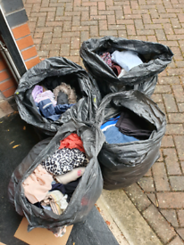 4 bags of clothes