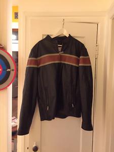 Superbe manteau jacket Cuir Moto Harley
