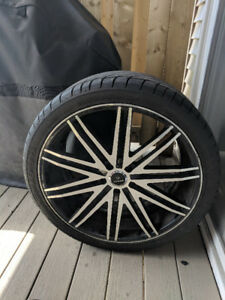 22 inch Verde Rims on tires bolt pattern 5x120