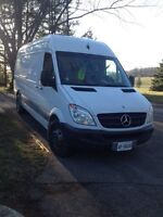 Sprinter van cargo space available