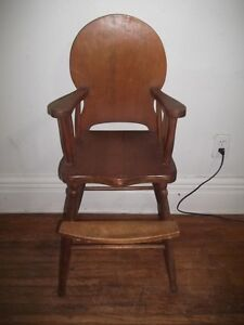 Old Wood High Chair