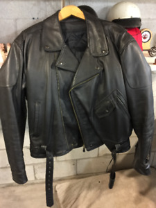 Marlon Brando Style Leather Jacket 50's look