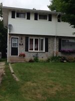 Close to Sault College 3 bedroom semi in the P Patch