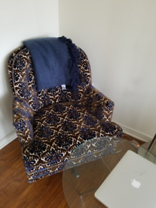 Stunning Accent Chair - Robert Allen Velvet Hidcote Blue Note