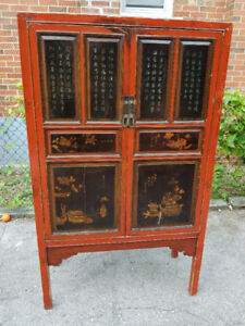 Antique Asian Style Wood Cabinet