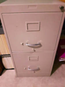 OFFICE 1 DOUBLE & 1 LEGAL FILE CABINETS
