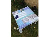 Shabby chic patchwork stool