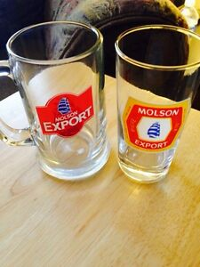 Molson export beer glasses