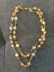 Gold and Bronze Beaded Necklace