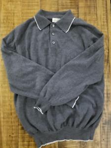 Brioni size M - polo wool sweater - men