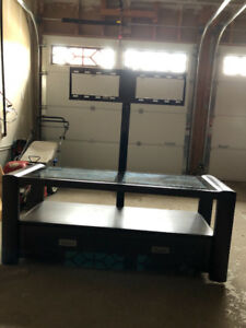 TV Stand and Media Storage with Drawers and TV Mount