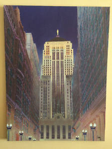 CB2 - Chicago Building Wall Canvas Modern Art (MOVING SALE!)