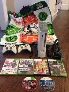 XBOX 360 Console With Controllers And Games RROD