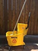 Industrial mop and Bucket.