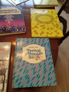Music books for piano and guitar