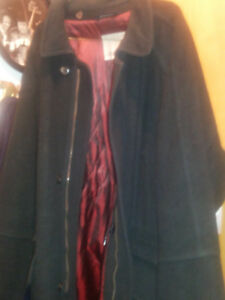 London Fog Wool And Cashmere Coat Jacket Made in Canada Mens
